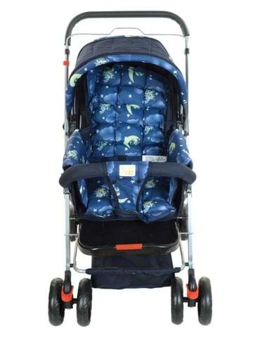 MeeMee Baby Pram Cum Stroller With Reversible Handle Printed - part - 1 - mumpa