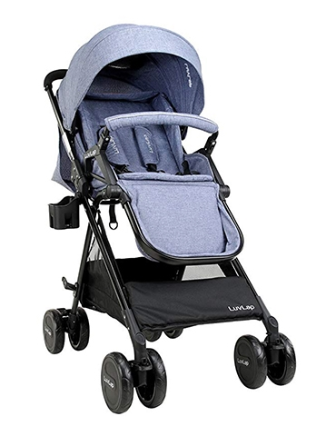 LuvLap Baby New Sports Stroller Blue