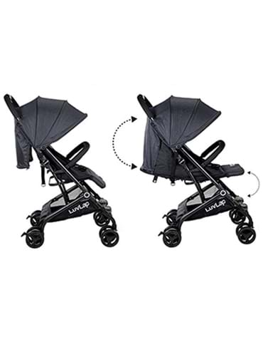 LuvLap Baby New Sports Stroller Black - part - 2 - mumpa