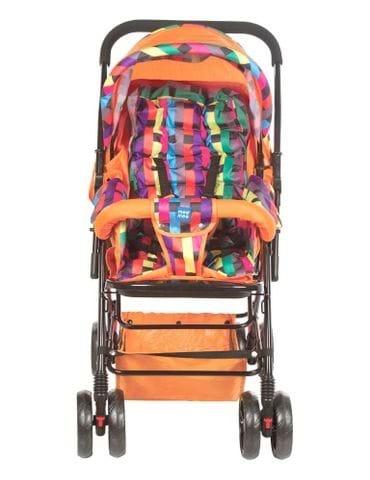 MeeMee Baby Pram with Soft Cushioned Seat and Full Leg Cover and Canopy - part - 1 - mumpa