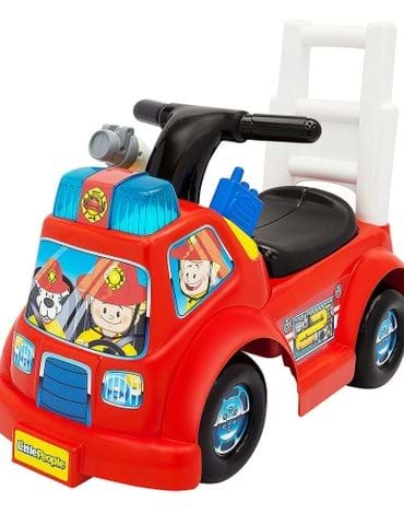 Baby Rider, Fisher-Price Little People Fire Truck Ride On - part - 1 - mumpa