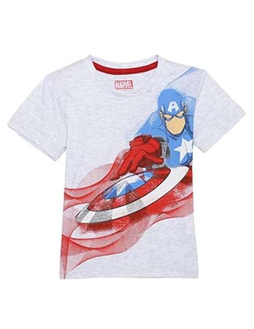 Captain America Kids Boys Grey color Half sleeve t-shirt - part - 1 - mumpa