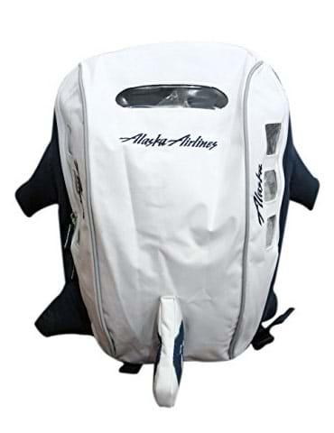 House of Quirk 5Ltrs Alaska Airlines Flight Bagpack - White