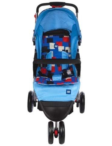 MeeMee Easy to Push Baby Pram with 3 seating position (Blue) - part - 1 - mumpa