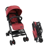 Luvlap Cruze Stroller Pram with Compact Tri-fold, Red