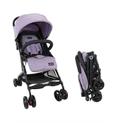 Luvlap Cruze Stroller Pram with Compact Tri-fold, Purple