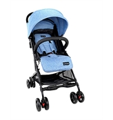 Luvlap Cruze Stroller Pram with Compact Tri-fold, Blue